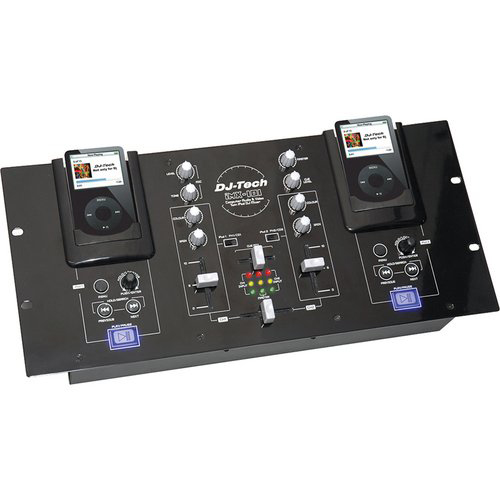 DJ Tech iMX-101 DJ Mixer with Dual iPod Docks and Video Out