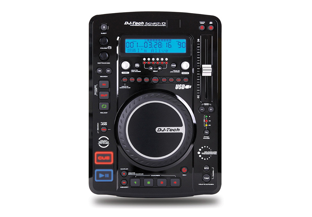 DJ Tech iScratch 101 v2 Top Load CD/ MP3 Player with DSP & Sampler