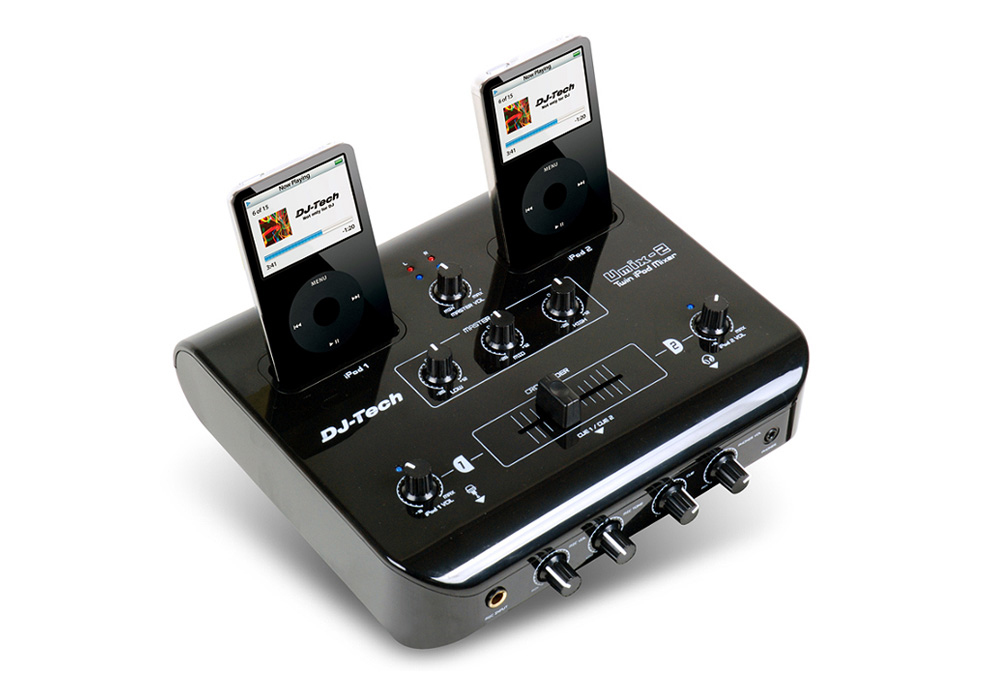 DJ Tech uMix-2 Twin iPod Audio & Video Mixer w/ full 3 Band and EQ