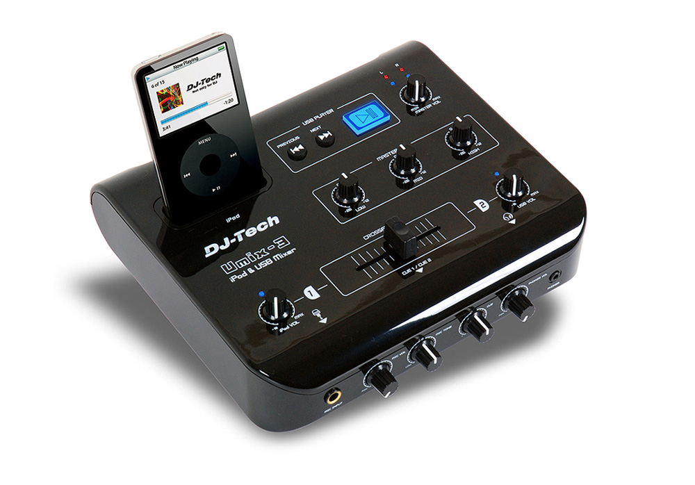 DJ Tech uMix-3 iPod Audio and Video Mixer with USB Player