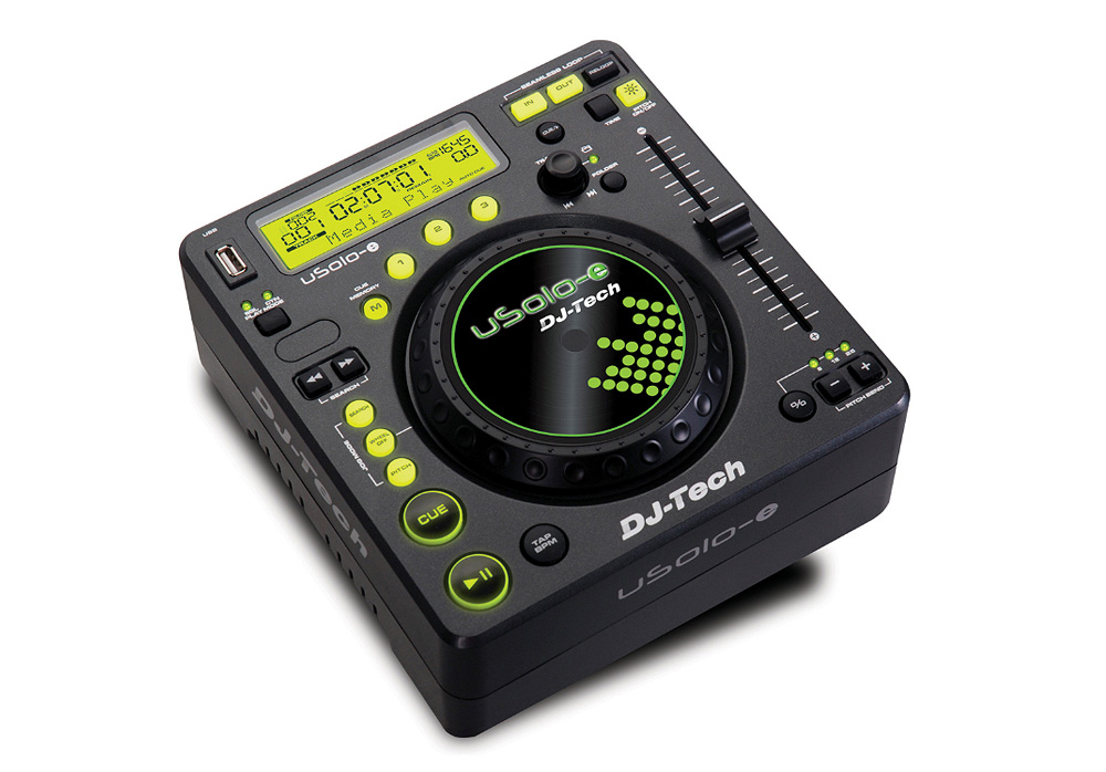 DJ Tech uSolo-e Compact USB Media Player with 3 Hot Cue Memory
