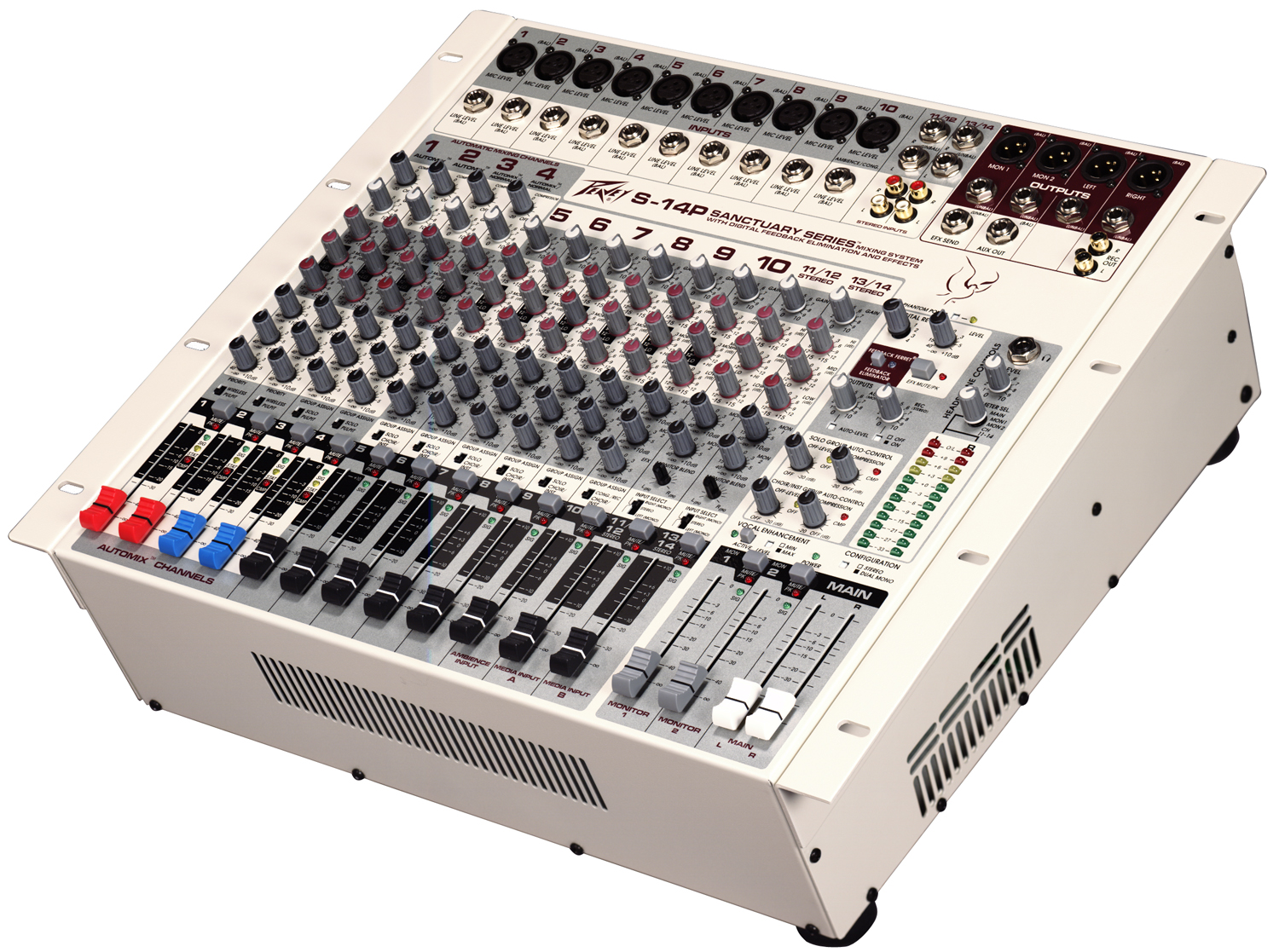 how to connect power amplifier to mixing console