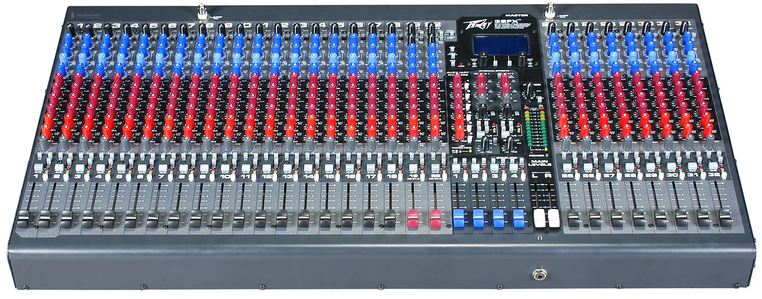 peavey 32fx 2 stereo channels mixer with mic line inputs and 6 aux 512520 pev13 512520. Black Bedroom Furniture Sets. Home Design Ideas