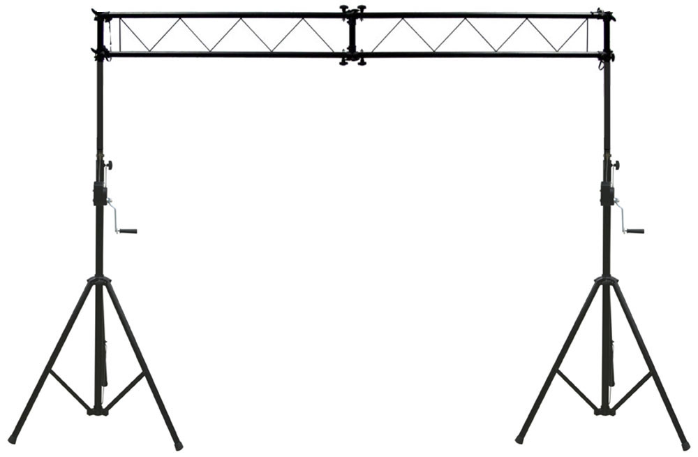 Pro Audio DJ Light Lighting Fixture Portable Truss Trussing with 10 Foot Crank Light Stands Package