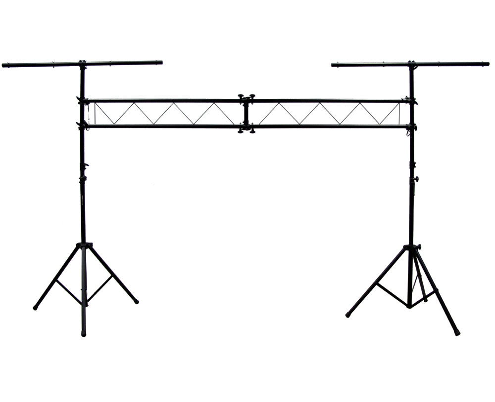 Pro audio dj light lighting fixture portable truss trussing with pro audio dj light lighting fixture portable truss trussing with 10 foot t bar light stands package arubaitofo Image collections