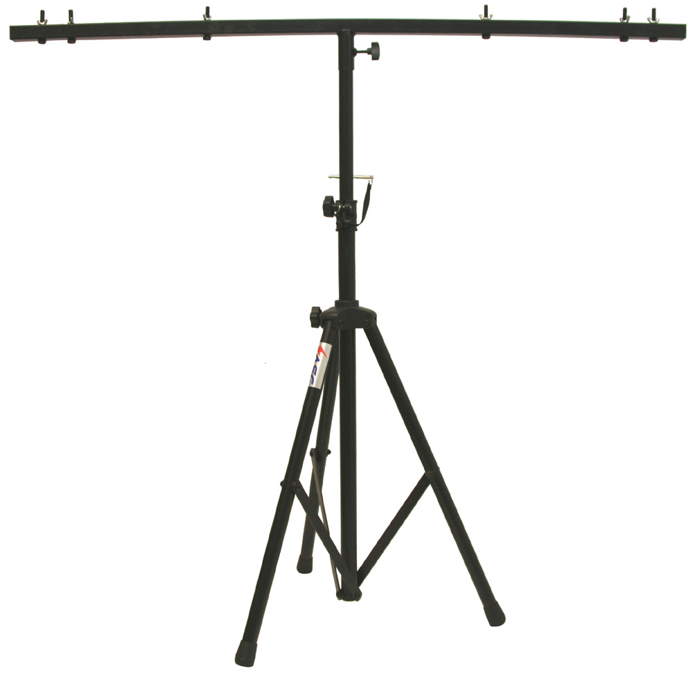 Pro Audio DJ Adjustable Tripod Stand With Top T Bar For Par Cans Wash Or Universal Lighting Fixtures
