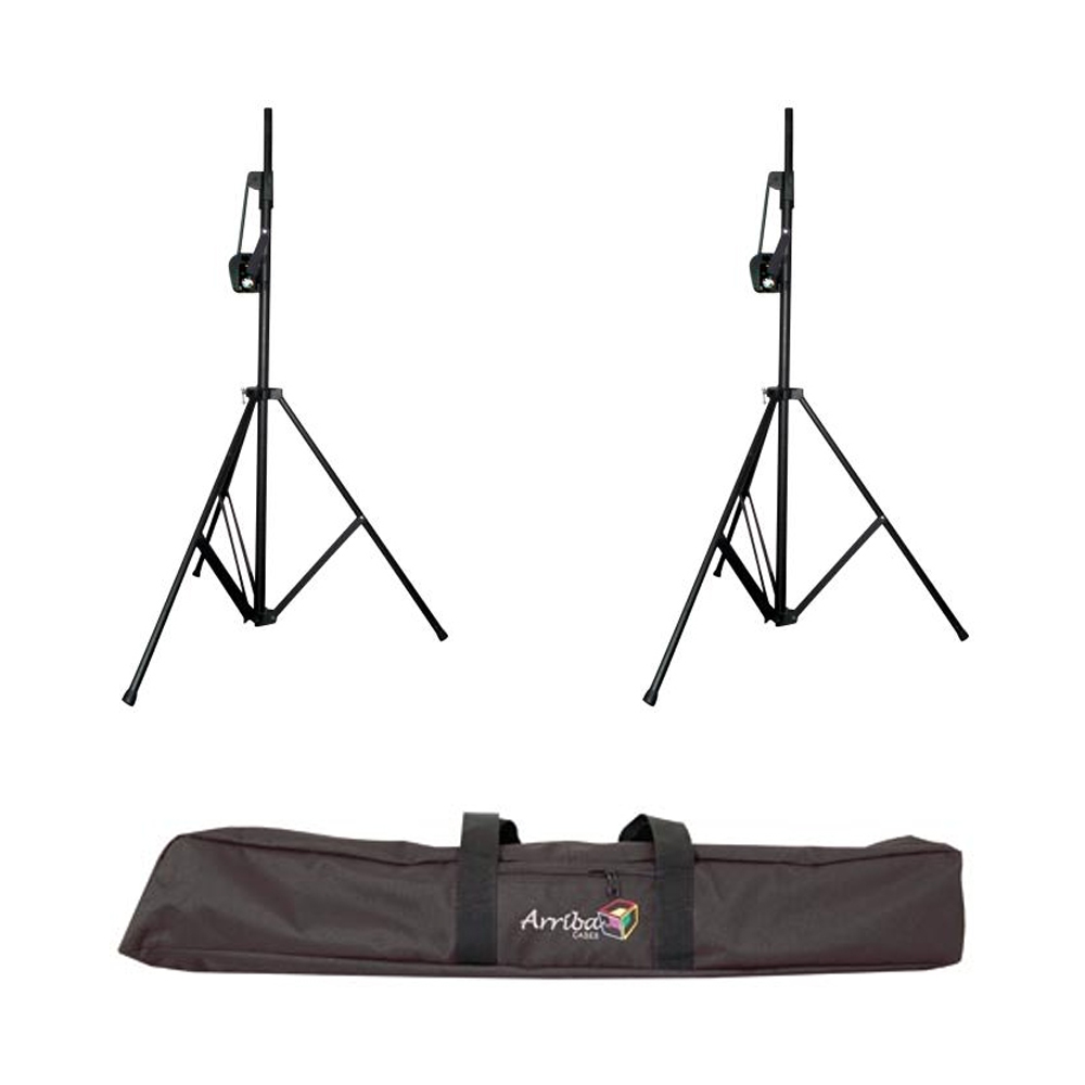 american dj 2 crank 2 speaker light tripod w as171 deluxe double stand bag ppackage 84. Black Bedroom Furniture Sets. Home Design Ideas