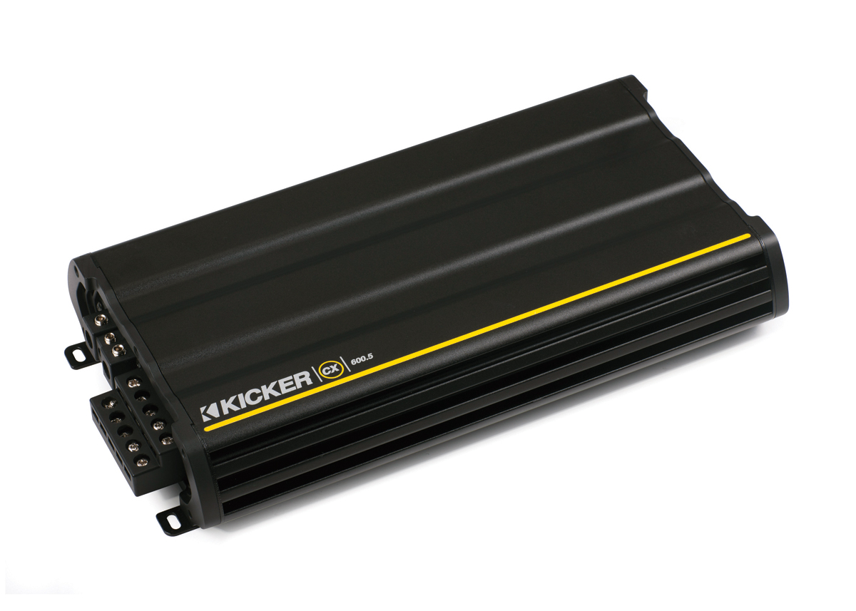 Kicker Car Audio CX600.5 CX-Series 5-Channel Amplifier 600W Class-D ...