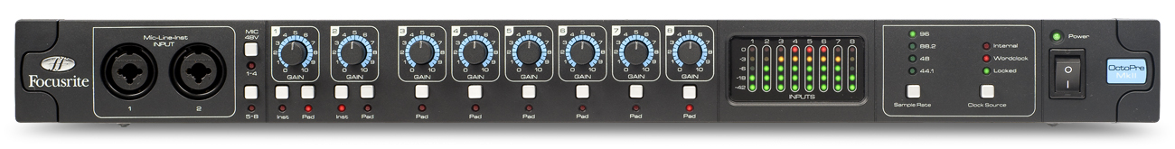 Focusrite OCTOPRE MKII 8 Channel Transparent Microphone Preamplifier