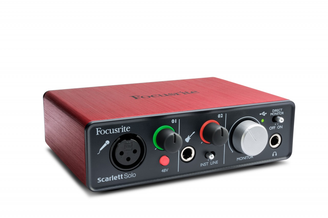 Focusrite SCARLETT SOLO 2 In/2 Out USB 2.0 Audio Interface w/ 1 Microphone Preamplifier