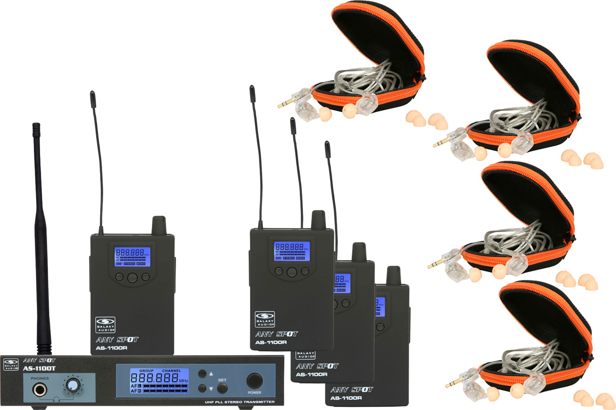 Galaxy Audio AS-1110-4 1110 Series Band Pack Systems