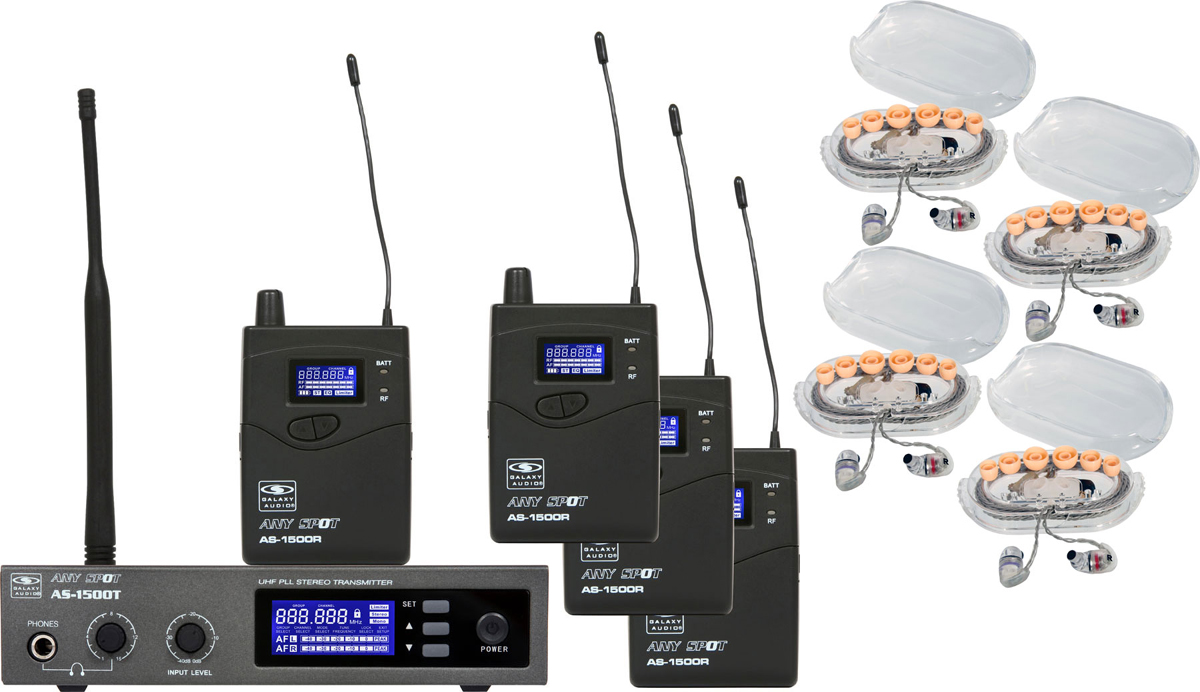 Galaxy Audio AS-1506-4 1506 Series Band Pack System