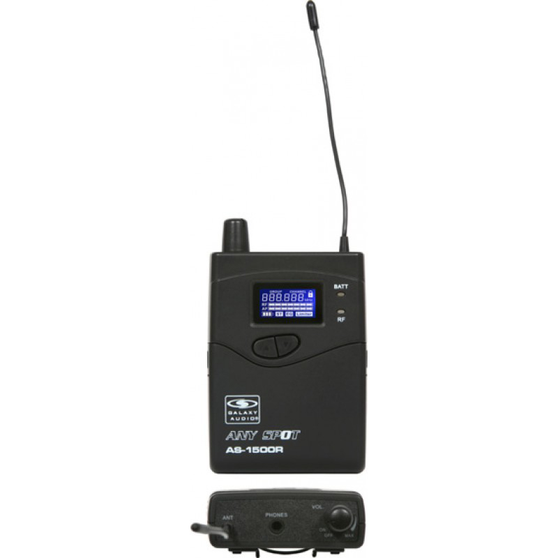 Galaxy Audio AS-1506R Bodypack Receiver with EB-6 Earbuds for the AS-1500 Any Spot Wireless Personal Monitor System