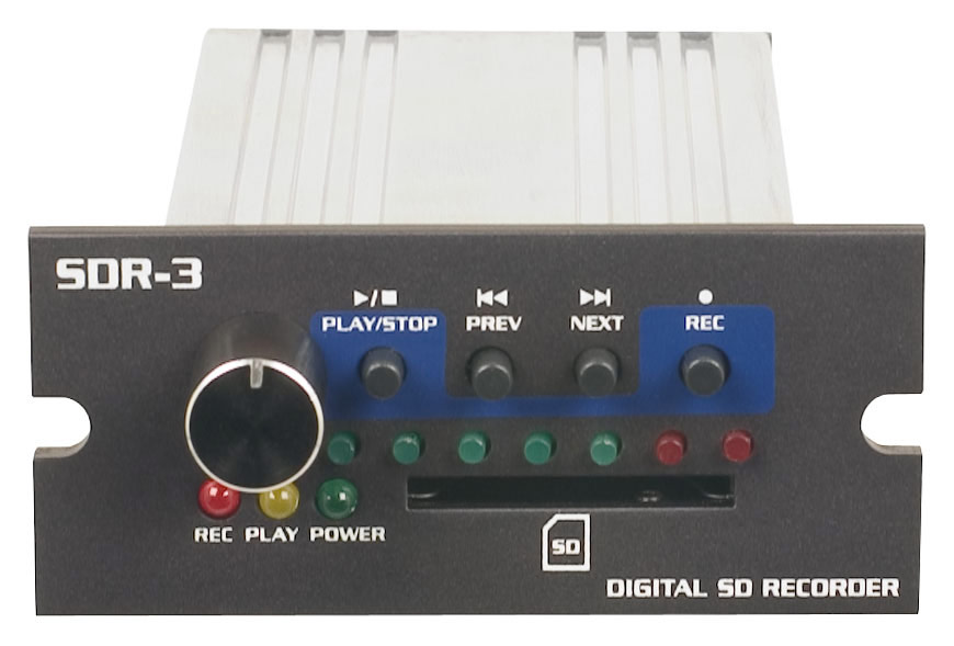 VocoPro SDR-3 Digital SD Recorder for PA-Pro 900 with Large Record Volume Knob