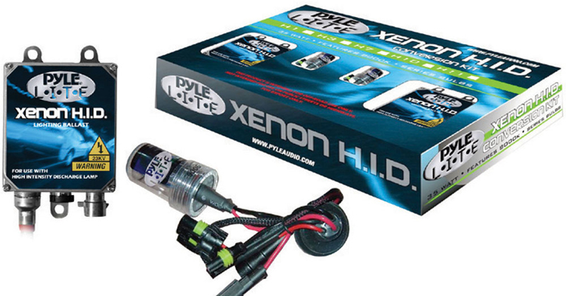 Pyle Car Audio PHDH1K6K 6,000K Single Beam H1 HID Xenon Driving Light System