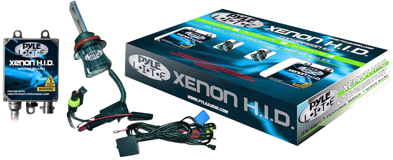 Pyle Car Audio PHDH4K12K 12,000K Dual Beam (Low/High) H4 HID Xenon Driving Light System