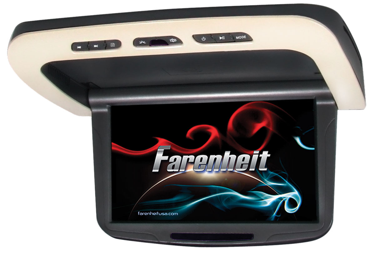 Farenheit MD-1050CMM 10.2 Inch Motorized LCD Screen Ceiling Mounted DVD System