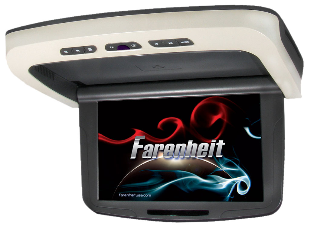 "Farenheit MD-1150CMM Motorized 11.2"" LCD Ceiling Mount DVD Entertainment System"