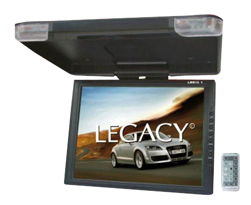 Legacy Car Audio LMR15.1 High Resolution TFT Roof Mount Monitor w/ IR Transmitter & Wireless Remote Control