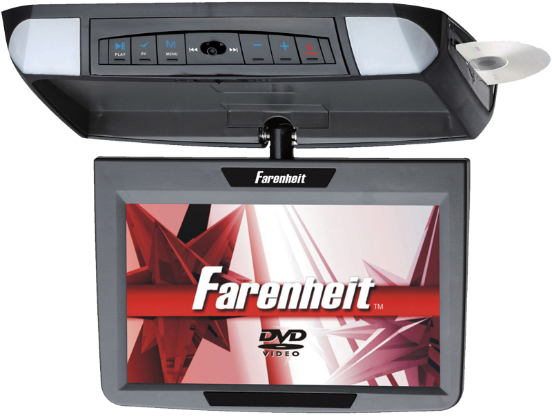 "Farenheit MD-900CM 9"" Overhead TFT-LCD Monitor 3 Snap-on Skins/Colors"