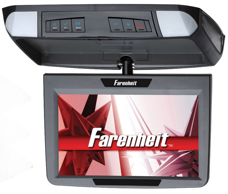 "Farenheit T-910CM 9"" TFT-LCD Widescreen Flip-Down Monitor"