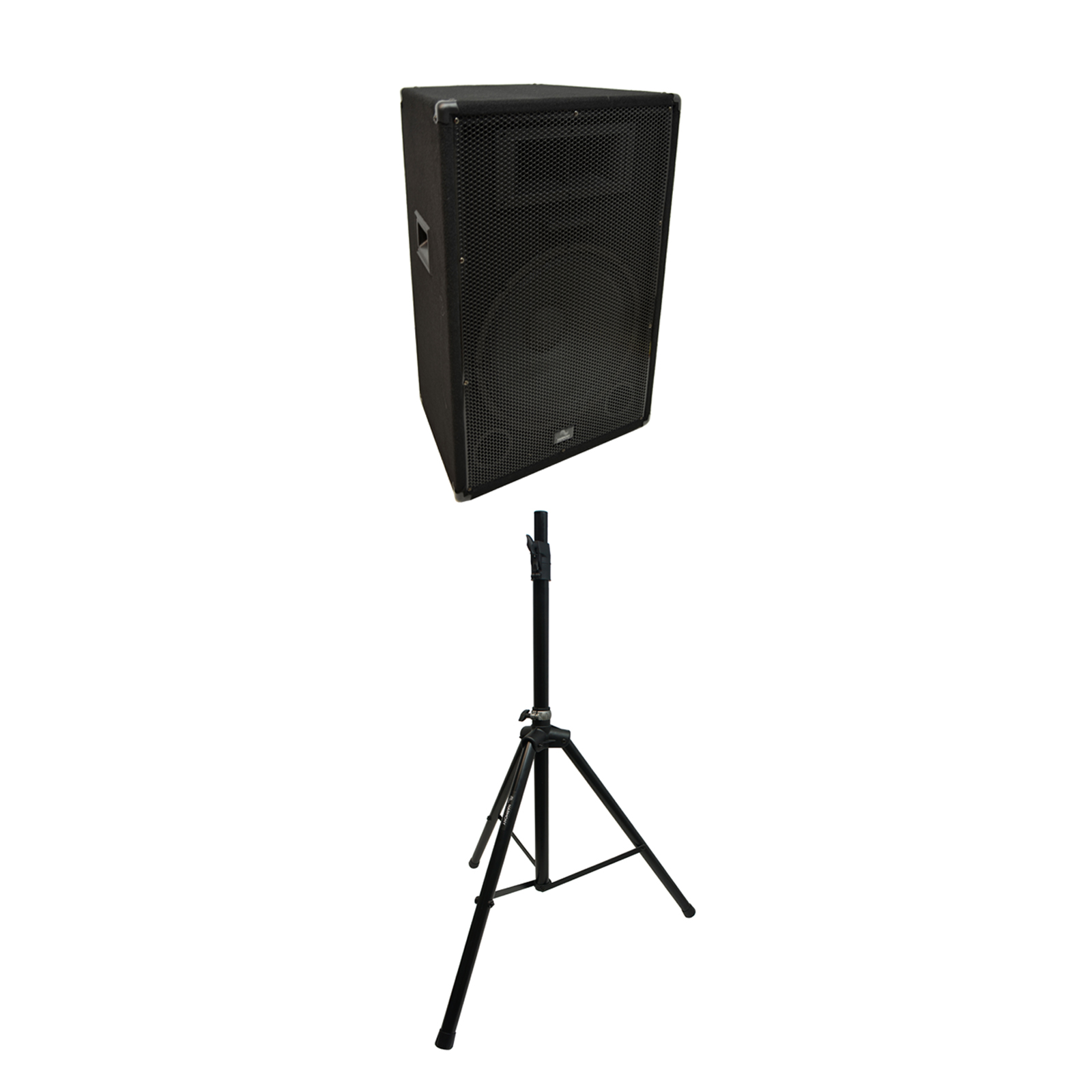 "Harmony Audio Single Tripod Speaker Stand with Harmony Audio Pro DJ Venue Series 15"" Passive 900W PA Speaker 2-Way Cabinet"