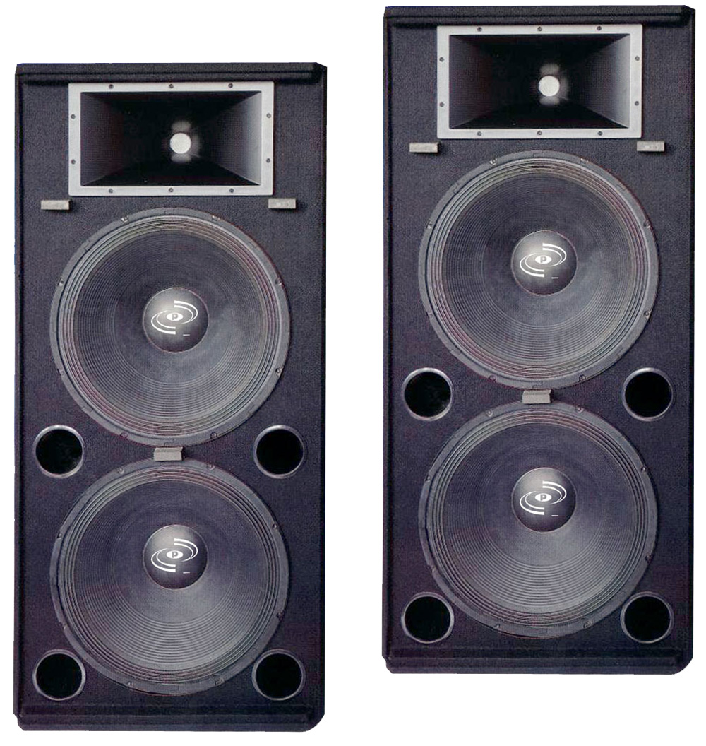 Pyle Pro Audio (2) PADH1572 DJ Passive 4000 Watts 3 Way Dual 15 ...