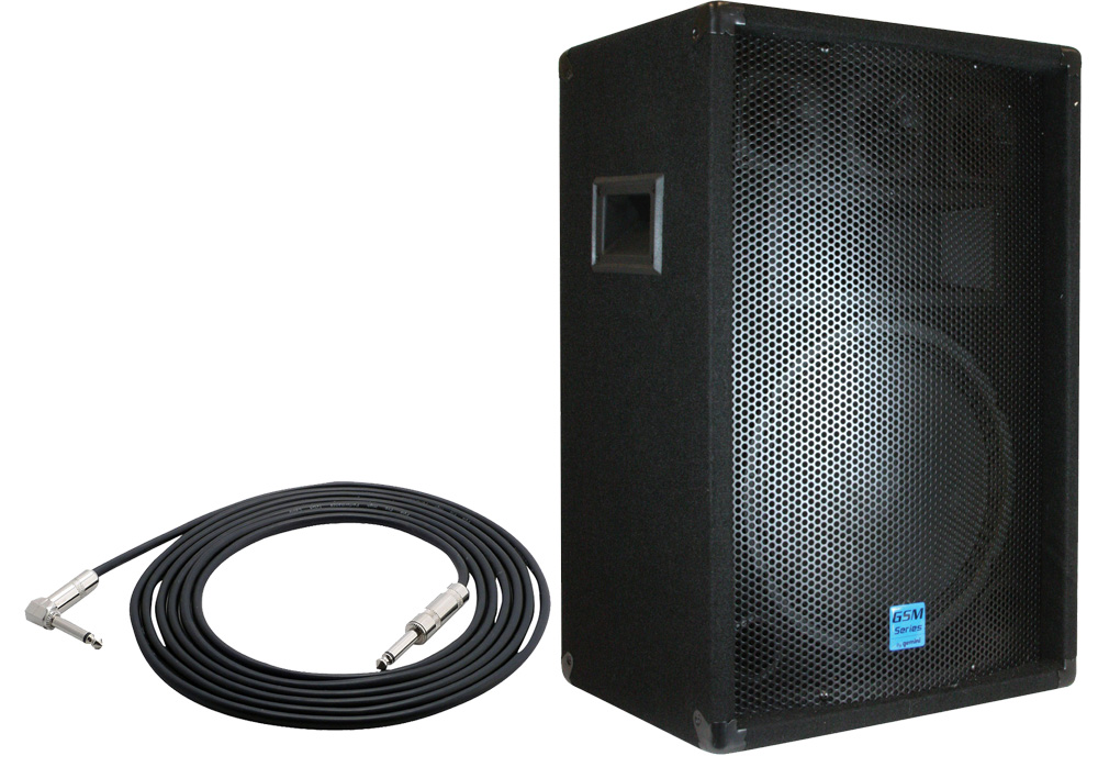 "Gemini Pro Audio DJ GSM-1260 Passive 400 Watt 3 Way 12"" Speaker with $25 1/4"" Jack Cable"