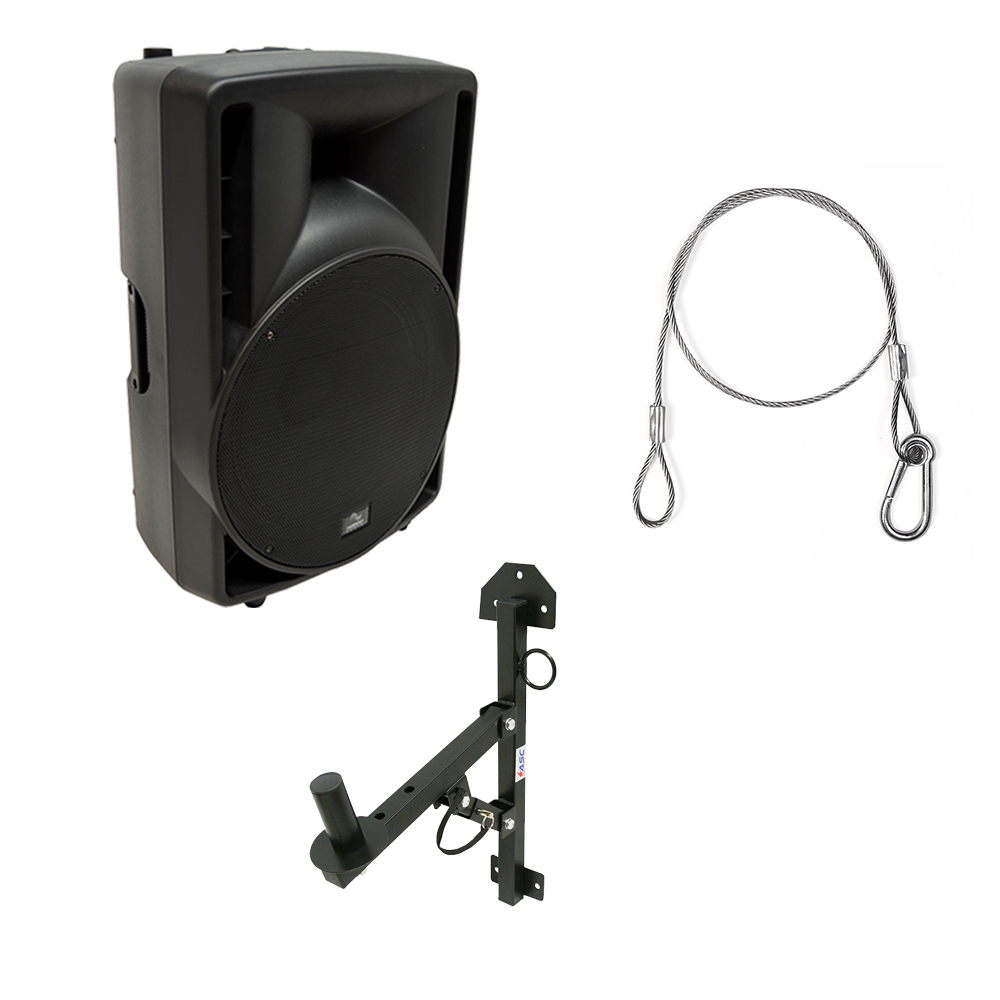 "Harmony Audio HA-C15A Pro DJ 15"" Powered 1000W Active PA Speaker & Wall Mount"