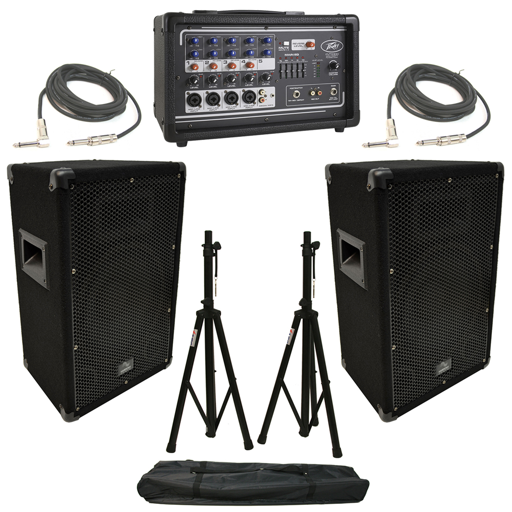 2 harmony ha v10p 10 dj pa speaker peavey pv 5300. Black Bedroom Furniture Sets. Home Design Ideas
