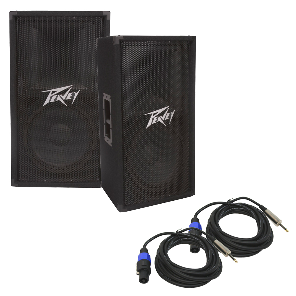 2 peavey pv 112 pro audio dj passive single 12 2 way. Black Bedroom Furniture Sets. Home Design Ideas