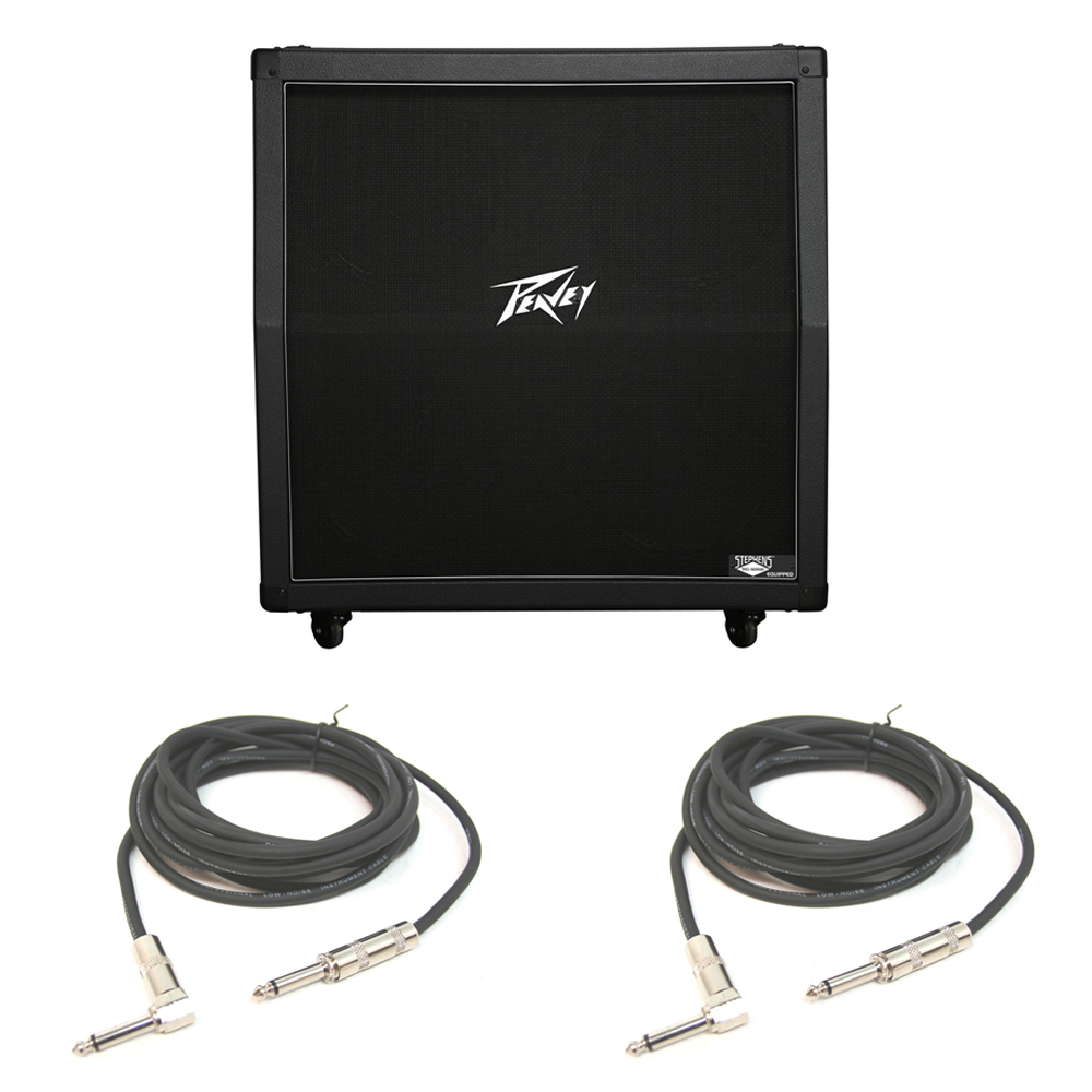 peavey 430a 412 straight electric guitar 12 speaker 100w cabinet cables pev13 3601160 rs pack. Black Bedroom Furniture Sets. Home Design Ideas