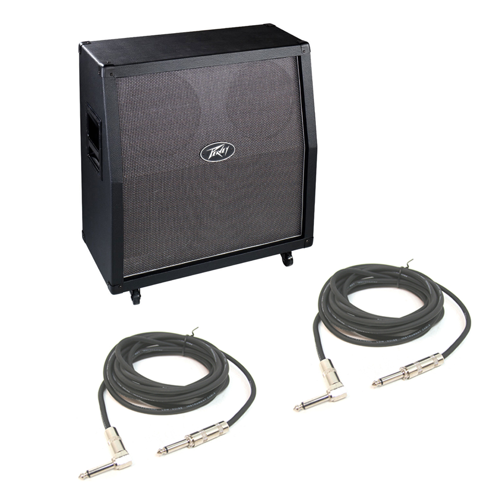 peavey valveking 412 pro audio electric guitar cabinet 12 speakers cables pev13 575760 rs pack. Black Bedroom Furniture Sets. Home Design Ideas