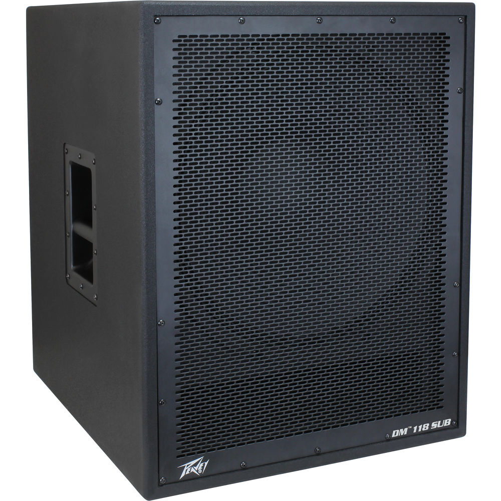 "Peavey DM 118 SUB Pro Audio DJ Dark Matter 18"" Powered 800W Peak Sub Subwoofer"