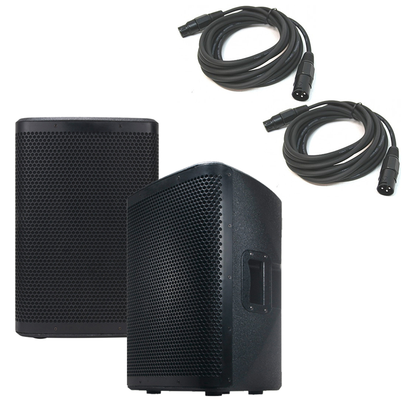 """American Audio (2) CPX 12A 15"""" 2-Way Active Loudspeaker w/ 2 15' Speaker Cables"""