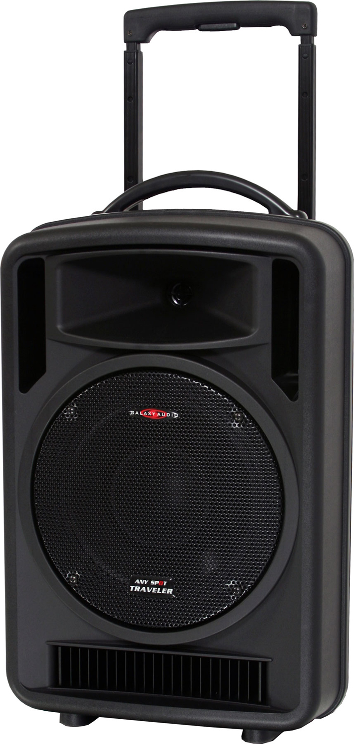 Galaxy Audio AS-TV102 Any Spot Traveler 10 Portable PA System with Choice of 2 Wireless Mics