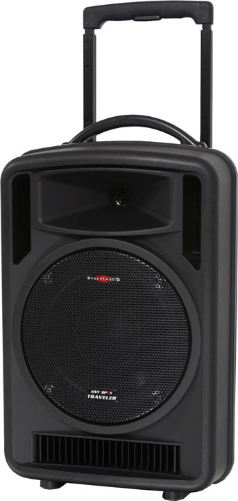 Galaxy Audio AS-TV10CT2 Any Spot Traveler 10 Portable PA System with Audio Link, CD Player & Choice of 2 Wireless Mics
