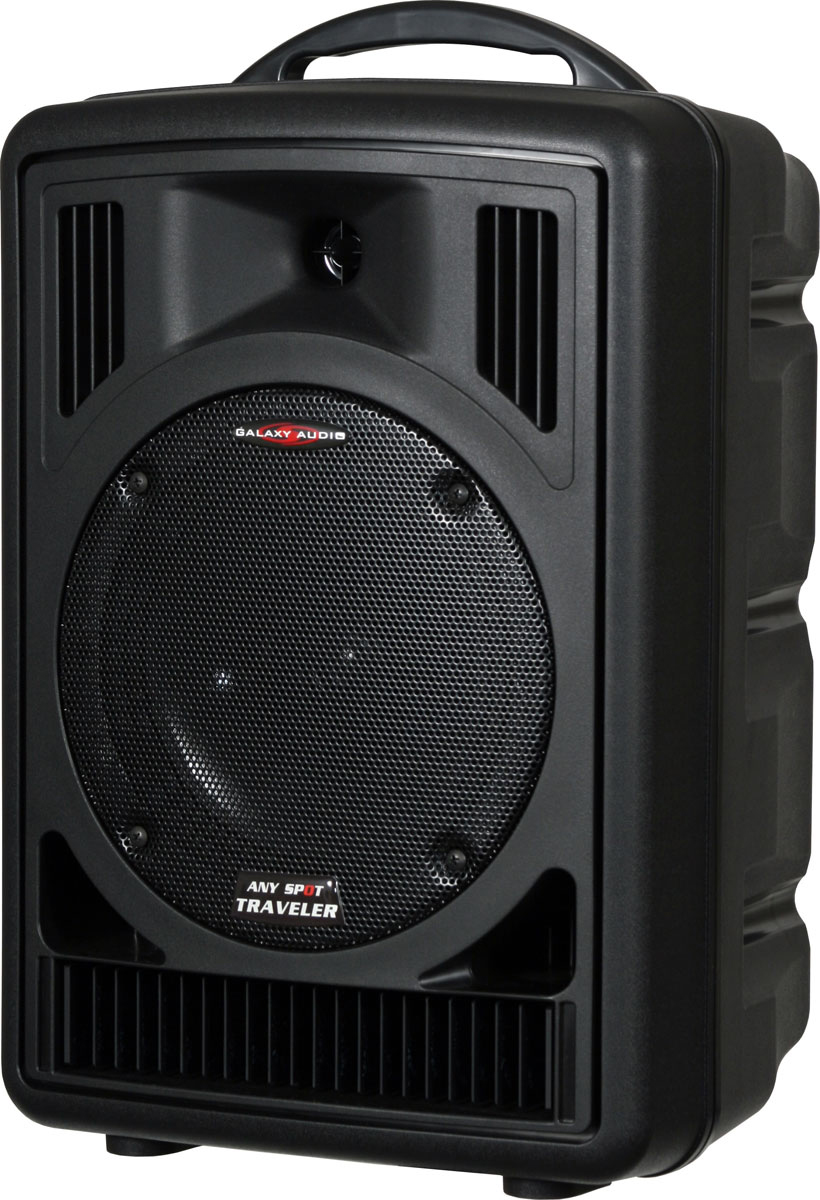 Galaxy Audio AS-TV8C2 Any Spot Traveler 8 Portable PA System with CD Player & Choice of 2 Wireless Mics