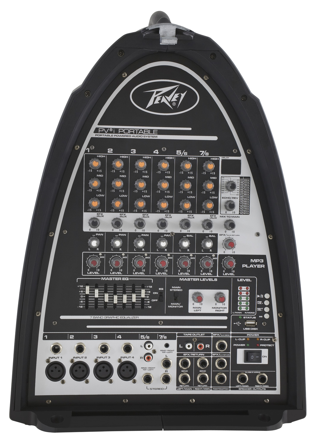 peavey pvi portable pro audio dj compact pa system 300w pa speaker amp 8ch mixer pev13 3608460 rs. Black Bedroom Furniture Sets. Home Design Ideas