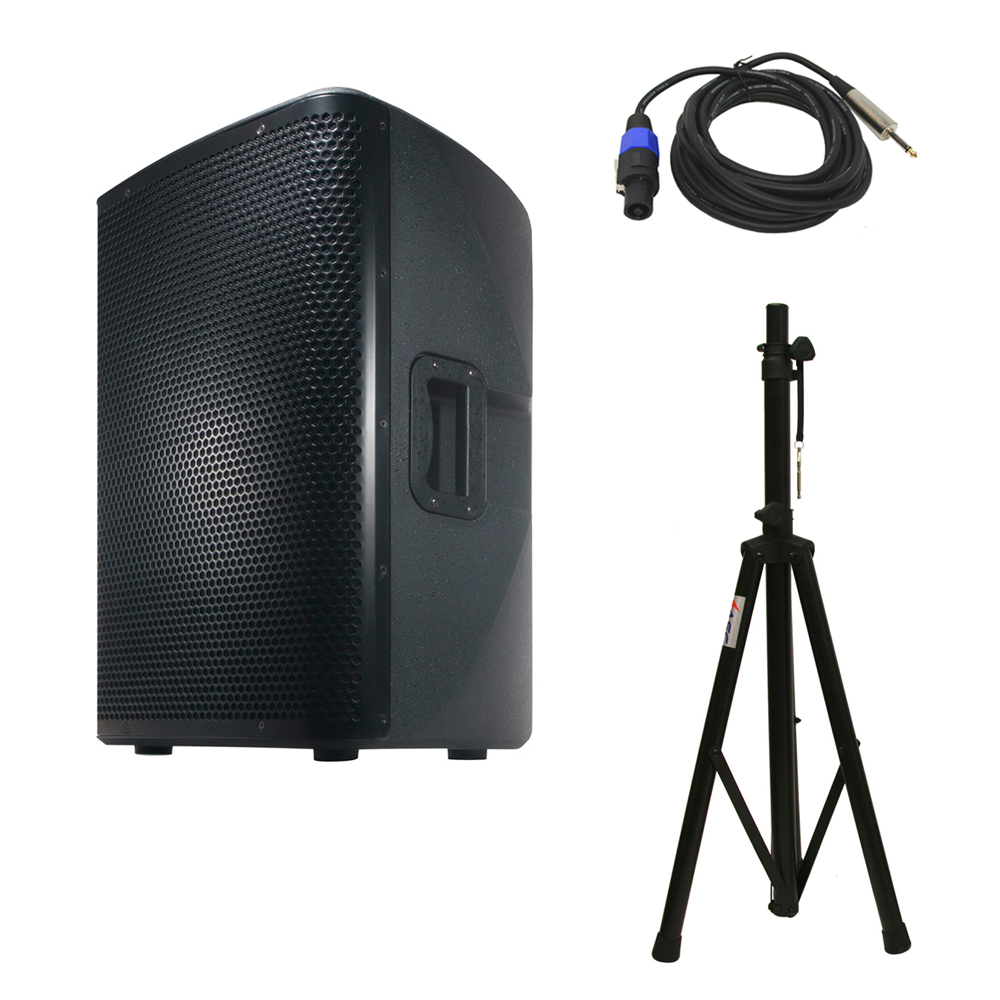 American DJ CPX 12A 2-Way Active Speaker Package w/ Tripod Stand & 15' Cable