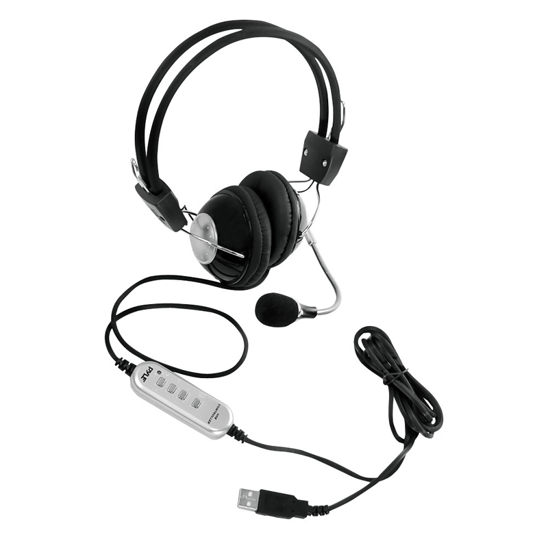 Pyle Home Audio PHPMCU10 Multimedia / Gaming USB Headset w/ Noise-Canceling Microphone