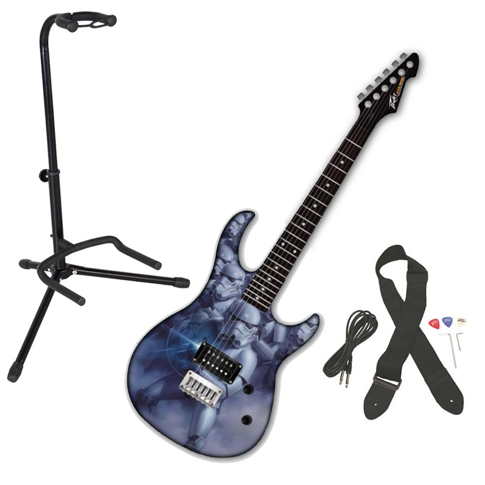 Peavey Star Wars Stroom Trooper Rockmaster Electric Guitar w/ Instrument Stand
