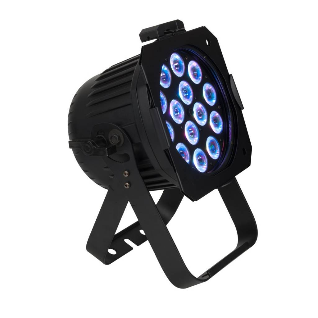 Elation EPAR QA 14 X 5W Quad RGBA LEDs Par Can (RGB+Amber) Color with Variable Strobe Effect