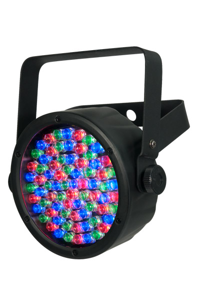 """Chauvet DJ SLIMPAR38 Slim Casing 2.5"""" THICK Fixtures Offers 3- or 7-Channel Of DMX Control Static Colors And RGB Color Mixing W/ Or W/O DMX Control"""