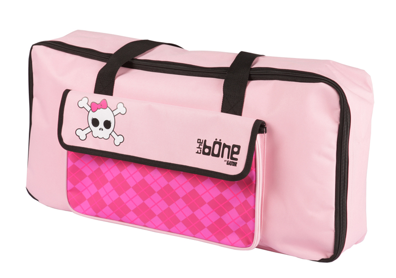 Gator Cases G-BONE-GP Molded Pedal Board and Gothic Pink Carry Case