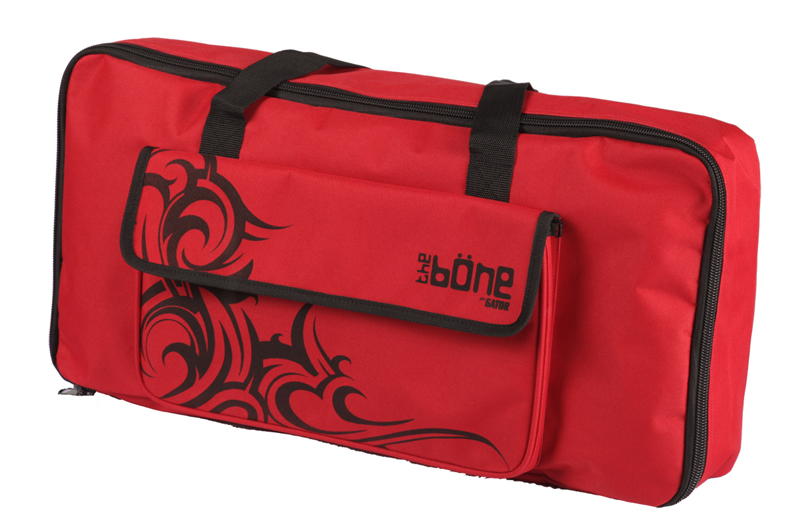 Gator Cases G-BONE-TR Molded Polyethylene Pedal Board and Tribal Red Carry Case