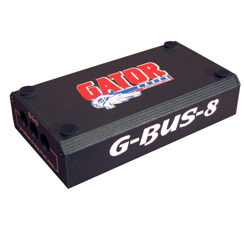Gator Cases G-BUS-8-US Regulated 9V 1700 Milliamp and Pedals for 18V Multi-Output DC Power Source