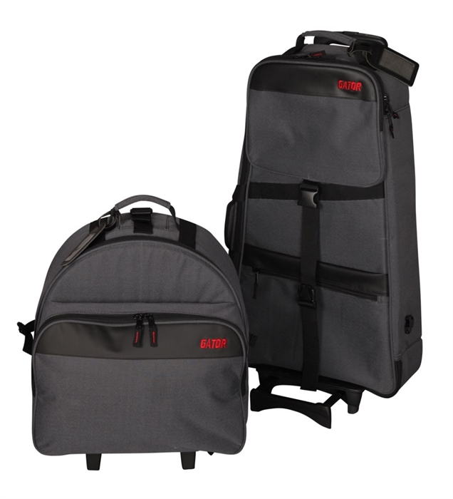 Gator Cases GP-SNRBELL KIT-A Snare/Bell Kit with Removable Bag & Rolling Cart