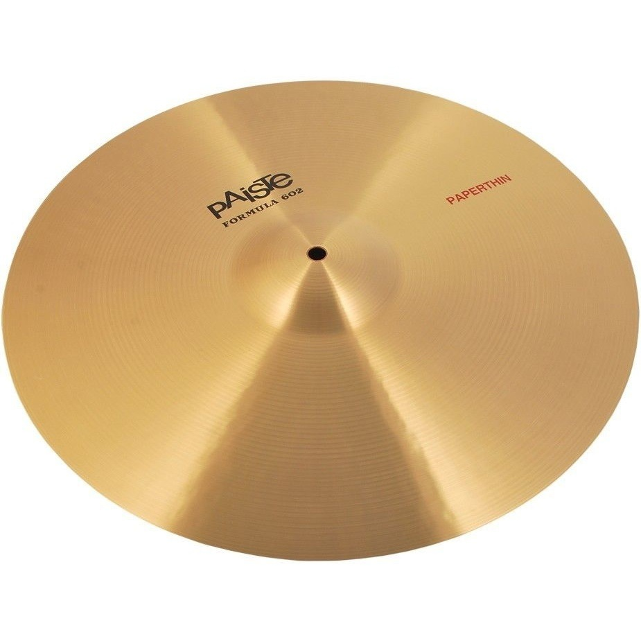 Paiste 16 Inch Formula 602 Classic Sounds Series Paper Thin Crash Cymbal with Fairly Lively Intensity (1041116)