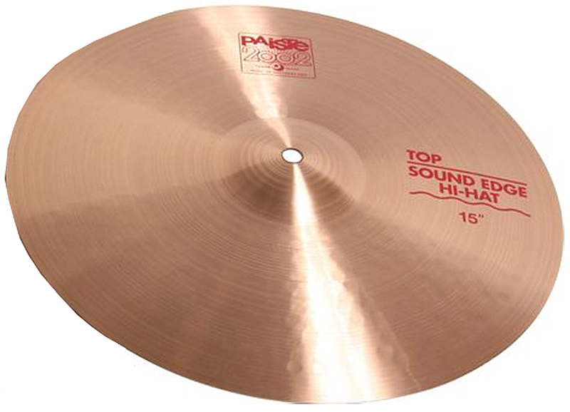 Paiste 15 Inch 2002 Series Sound Edge Top Hi-Hat Cymbal with Pronounced Stick Sound (1063215)